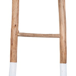 "Load image into Gallery viewer, Taos 72.5""H Fir Wood Decorative Ladder with White Dipped Bottom"