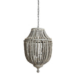 Load image into Gallery viewer, Wilshire Metal Chandelier with Grey Wood Beads