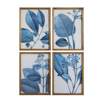 Load image into Gallery viewer, Blue + White Framed Botanical Art Set
