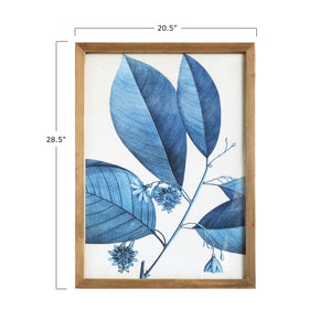 Blue + White Framed Botanical Art Set