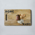 "Load image into Gallery viewer, ""Home Made"" Cheese + Charcuterie Cutting Board"