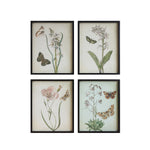 Load image into Gallery viewer, Butterflies + Florals Vintage Reproductions Framed Art Set