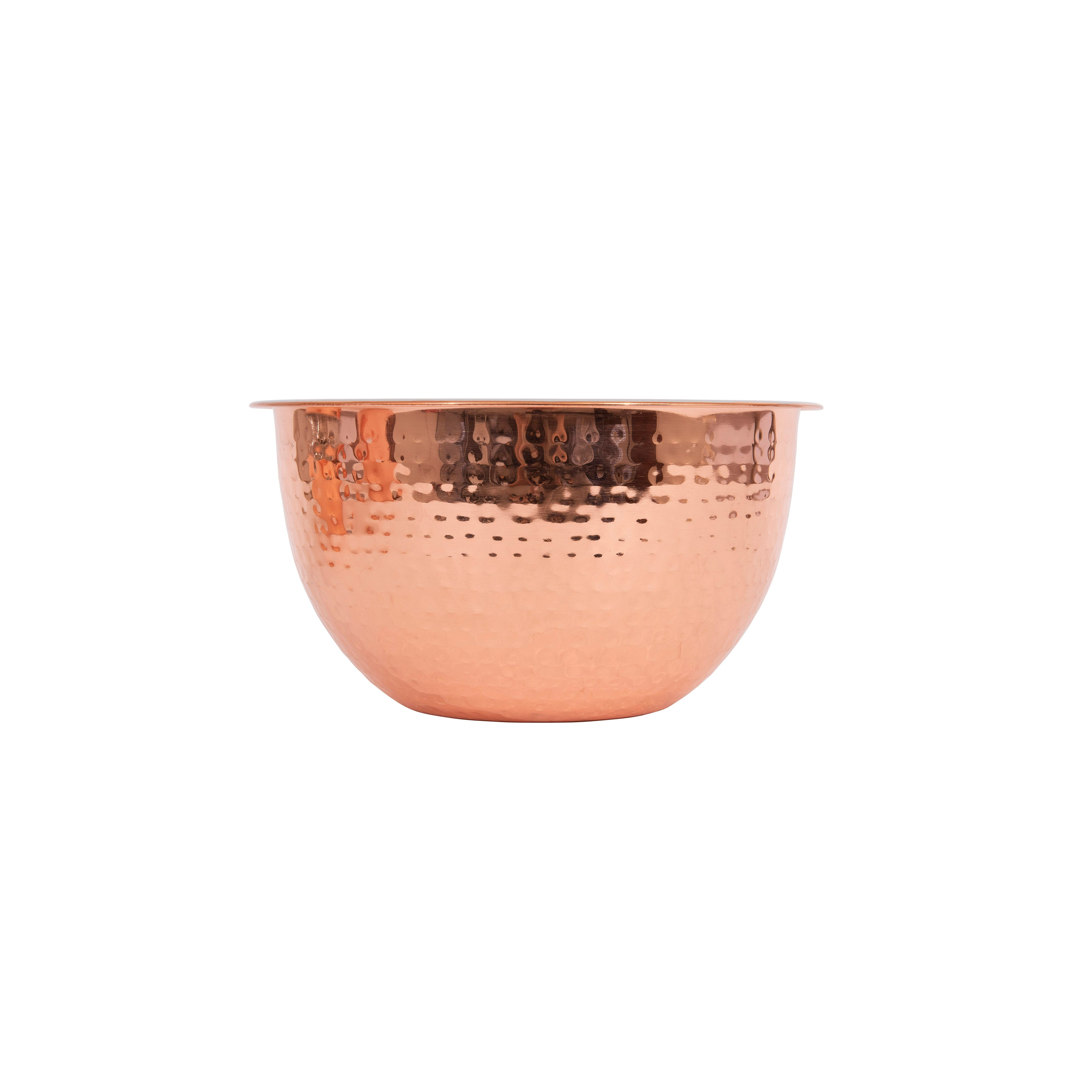 Hammered Copper Stainless Steel Bowl Set [Set of 3]