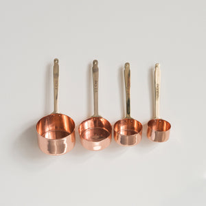 Copper & Brass Measuring Cups [Set of 4]
