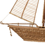 "Load image into Gallery viewer, 36.75""H Nantucket Woven Rattan + Water Hyacinth Sailboat"