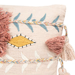 "Load image into Gallery viewer, Willoughby 20"" Sq. Embroidered Pink Cotton Pillow"