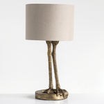 "Load image into Gallery viewer, 22.5""H Antique Gold Bird Legs Table Lamp"