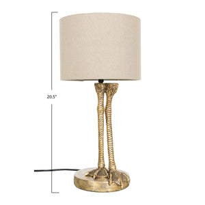 "22.5""H Antique Gold Bird Legs Table Lamp"