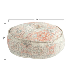 Montmarte Distressed Cotton Pouf