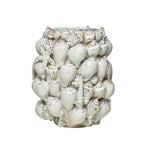 "Load image into Gallery viewer, 11.75""H Sanibel Stoneware Seashell Vase"