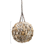 Load image into Gallery viewer, La Jolla Shores Oyster Shell Pendant Lamp