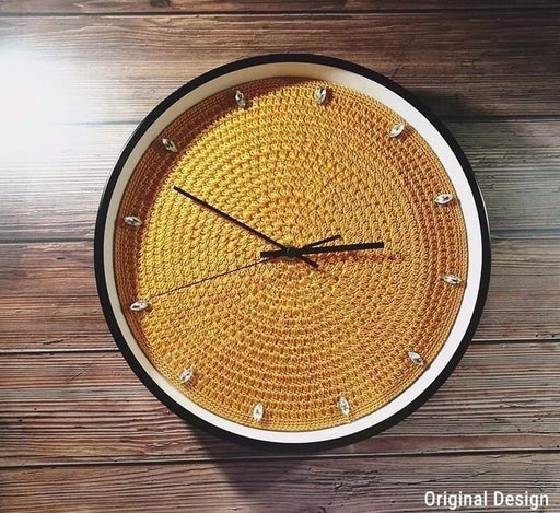 Handmade Crochet  Wall Clock Boughtit.ca home decor - Boughtit.ca