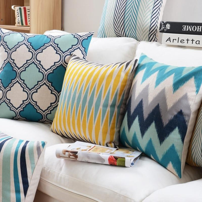 Geometric Throw Pillow Covers
