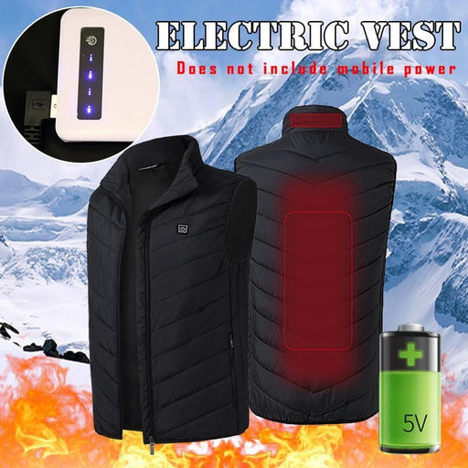 Unisex USB Heating Jacket for Outdoor usage