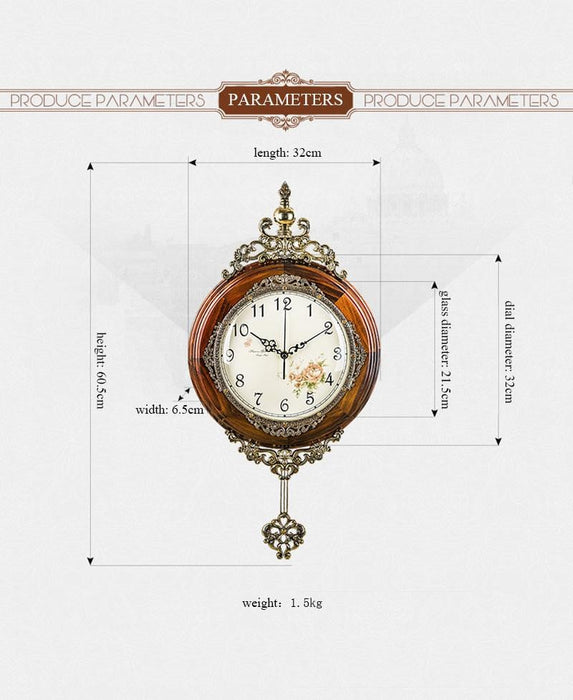 Classical Wooden Wall Clock