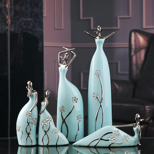 Ceramic Ballet Dancers Boughtit.ca Home Decor - Boughtit.ca