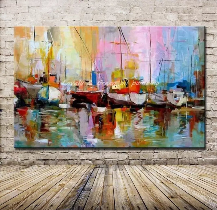 Handmade Boats on Shore Boughtit.ca Art & Paintings - Boughtit.ca