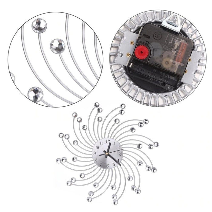 Crystal Wall Clock Boughtit.ca Home & Décor - Boughtit.ca