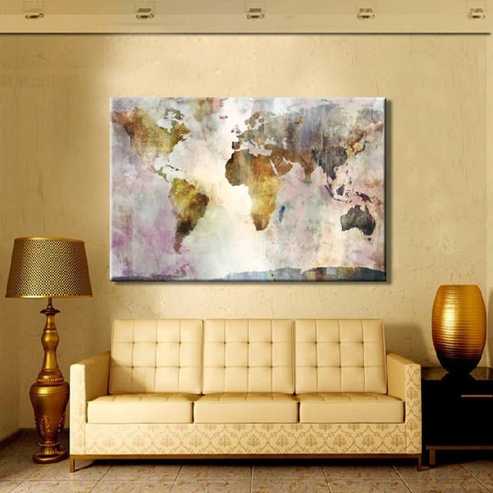 World Map Canvas Art Boughtit Ca