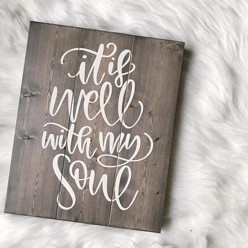 It Is Well With My Soul, Yoga Sign, Yoga Girl