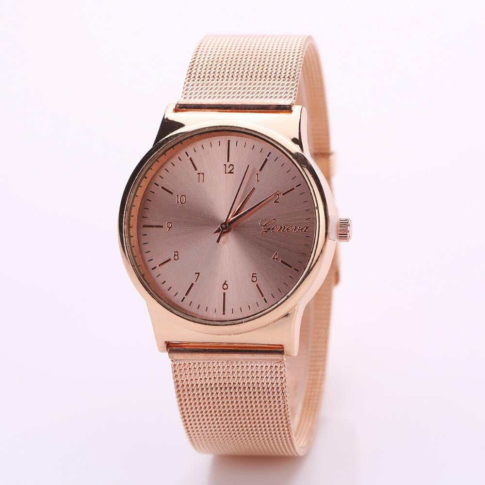 2017 Luxury Gold Rose Gold Women Stainless Steel Quartz Wrist watch woman Ladies Dress Watch Relogio feminino Boughtit.ca Wrist watch - Boughtit.ca