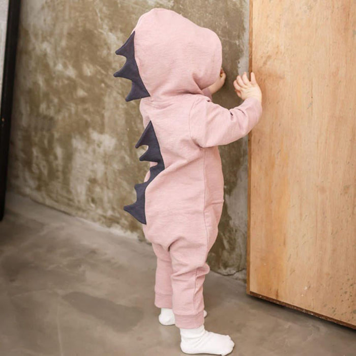 Cartoon Dinosaur Design Hooded Baby Rompers Newborn Clothing Cotton Long Sleeve Jumpsuits Boys Girls Outerwear Costume Baby Gift Boughtit.ca  - Boughtit.ca