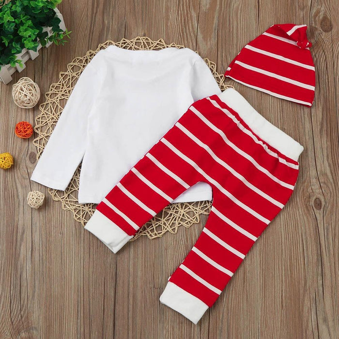 271060942 2017 baby clothes set casual long sleeve T-shirt+pant+cap 3-piece ...