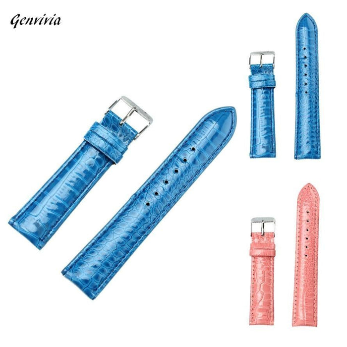 GENVIVIA Brand Watchband Watch Band For Dress Watches 20mm Fashion Women wristwatches Leather Strap Boughtit.ca Wrist watch - Boughtit.ca