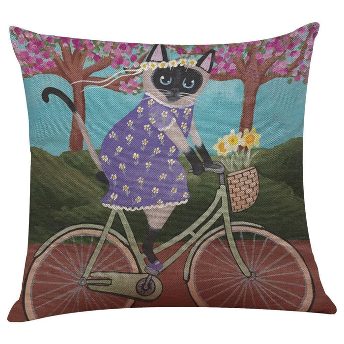 Cute Cat Sofa Bed Home Decoration Cushion Cover Boughtit.ca Home & Décor - Boughtit.ca