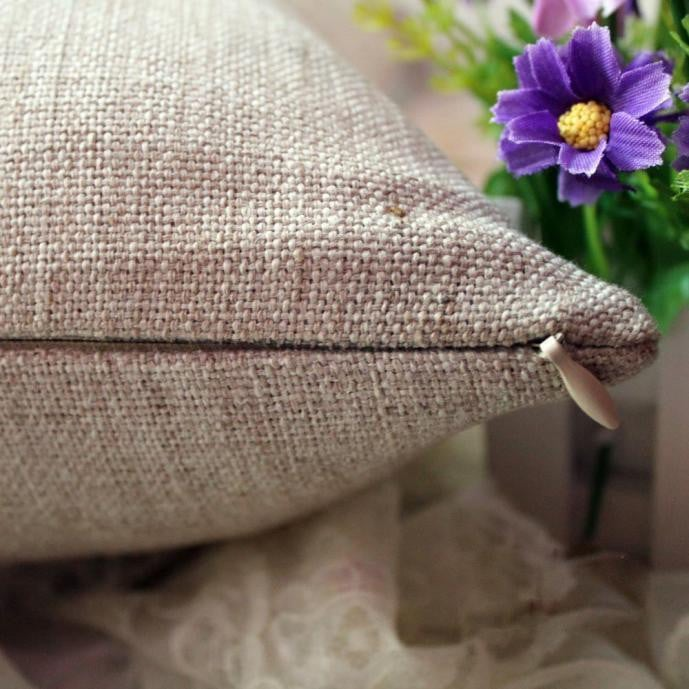 Linen  Throw Flax Pillow Case Decorative Cushion Cover