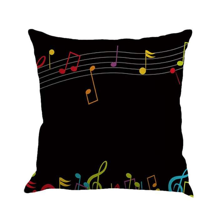 Musical Note Painting Linen Cushion Cover Throw Pillow Case Sofa Home Decor