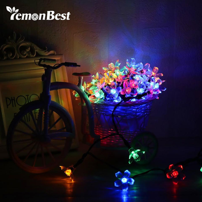 Fairy 5m Solar Powered RGB Waterproof String Lights Peach Blossom String Lamp for Christmas tree Home Indoor/Outdoor Decoration Boughtit.ca Xmas - Boughtit.ca