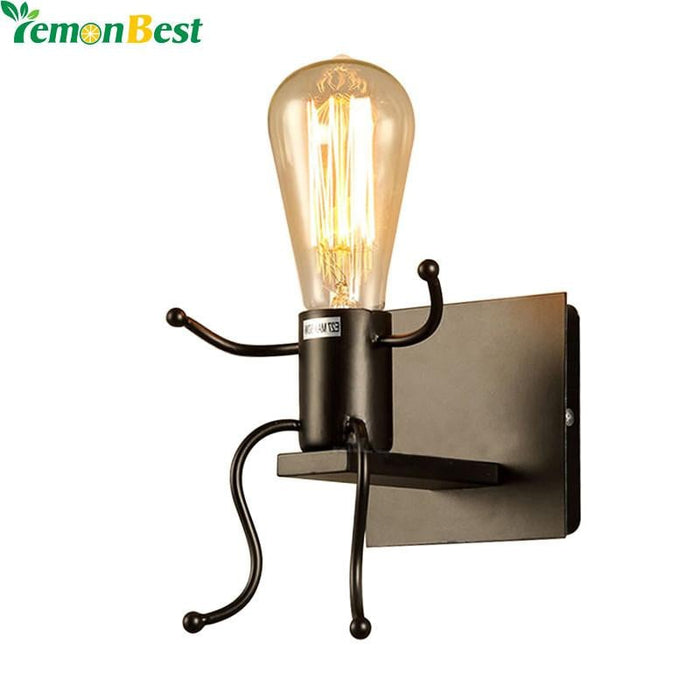 Creative Modern Man Shape Wall Lights for Home Cute Sconce E27 Socket Wall Mounted Bathroom Lamp AC 85-240V (no bulb included) Boughtit.ca Electronics - Boughtit.ca