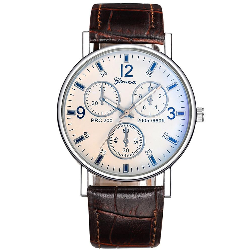 Women's Men Casual Quartz Leather Band Newv Strap Watch Analog Wrist Watch