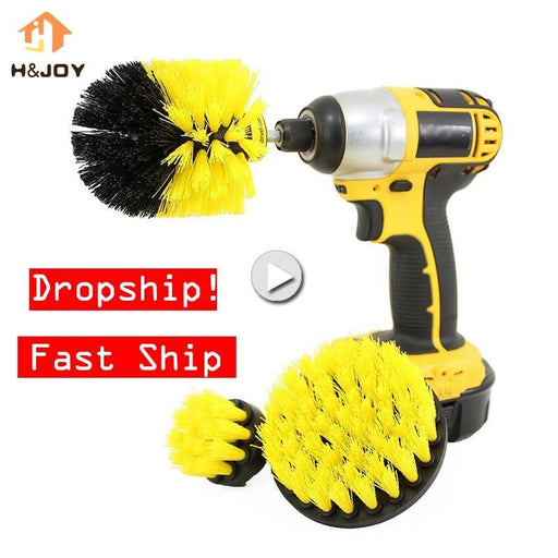 3 Pcs Power Scrubber Brush work with drill Boughtit.ca Home & Garden - Boughtit.ca
