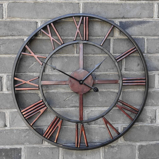 Roman Iron Wall Clock