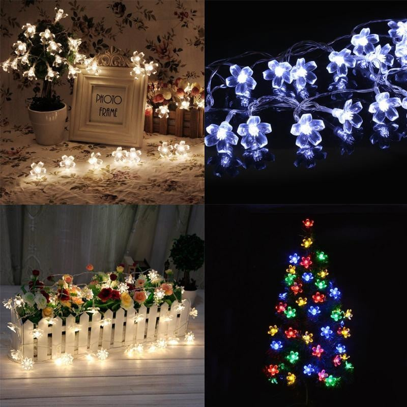 1.2M LED String lighting 10 Plum Blossom Battery For Holiday Home Indoor Christmas Festival Party Fairy LED Strip lights Boughtit.ca Home & Décor - Boughtit.ca
