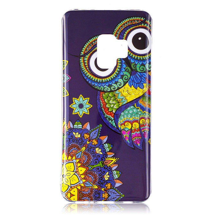 Mobile Phone Protection Case for Samsung Galaxy S9 TPU Border Soft IMD Fluorescence Colored Print Protective Case