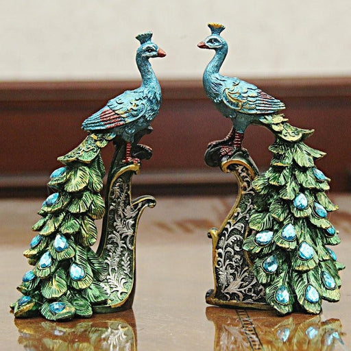 Sri Lanka Small Peacock Crafts Creative Home Furnishings Living Room Peacock Ornaments Wine Cabinet Decorations