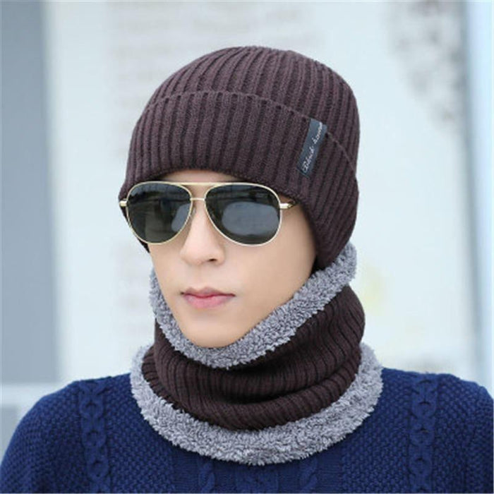 2017 Winter Face Mask Cap Neck Warmer Balaclave Hat Mens Skullies Beanies Cap Scarf Sets Fashion Fleece Beanie Knitted Hats Boughtit.ca  - Boughtit.ca