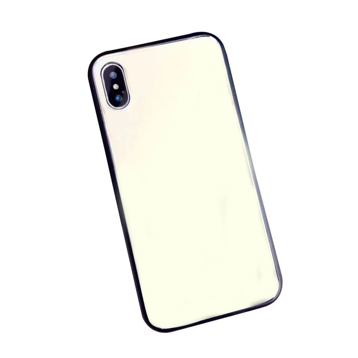 Phone Cover Clear Mirror for Makeup Explosion-proof Glass Surface Mobile Phone Case for Apple iPhone X