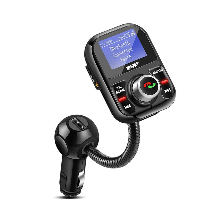 Rotatable Car FM Transmitter Bluetooth DAB/DAB Receiver with Charger