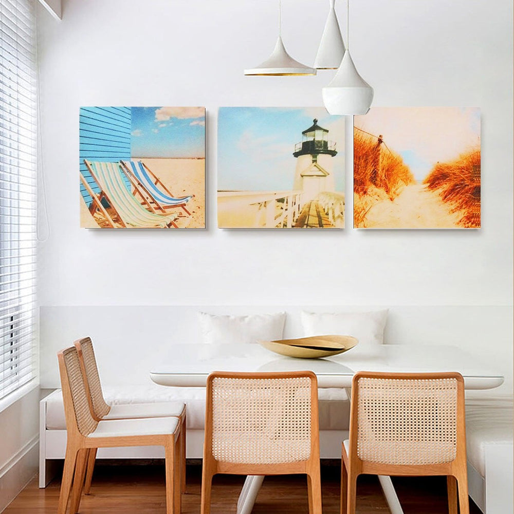 3Pcs Beach Nautical Seaside Canvas Prints Painting Wall Bedroom Decor Unframed Boughtit.ca  - Boughtit.ca