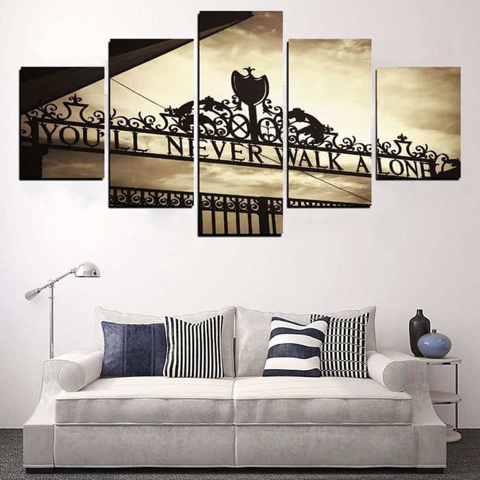 5Pcs You'll Never Walk Alone Liverpools Canvas Pictures Wall Art Decor Frameless Boughtit.ca  - Boughtit.ca