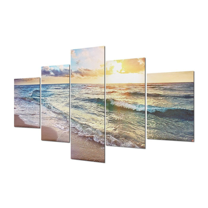 5Pcs Sea Beach Canvas Modern Painting Print Home Room Art Wall Decor Unframed Boughtit.ca  - Boughtit.ca