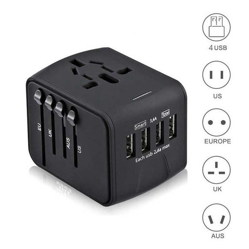 International Universal Power Adapter All-in-one for UK/EU/AU/Asia