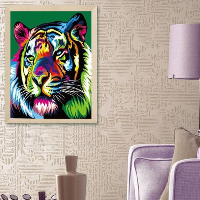 HOT DIY Painting by Numbers Kit Tiger Forest King Wild Animal Home Decor 40*50cm Boughtit.ca  - Boughtit.ca