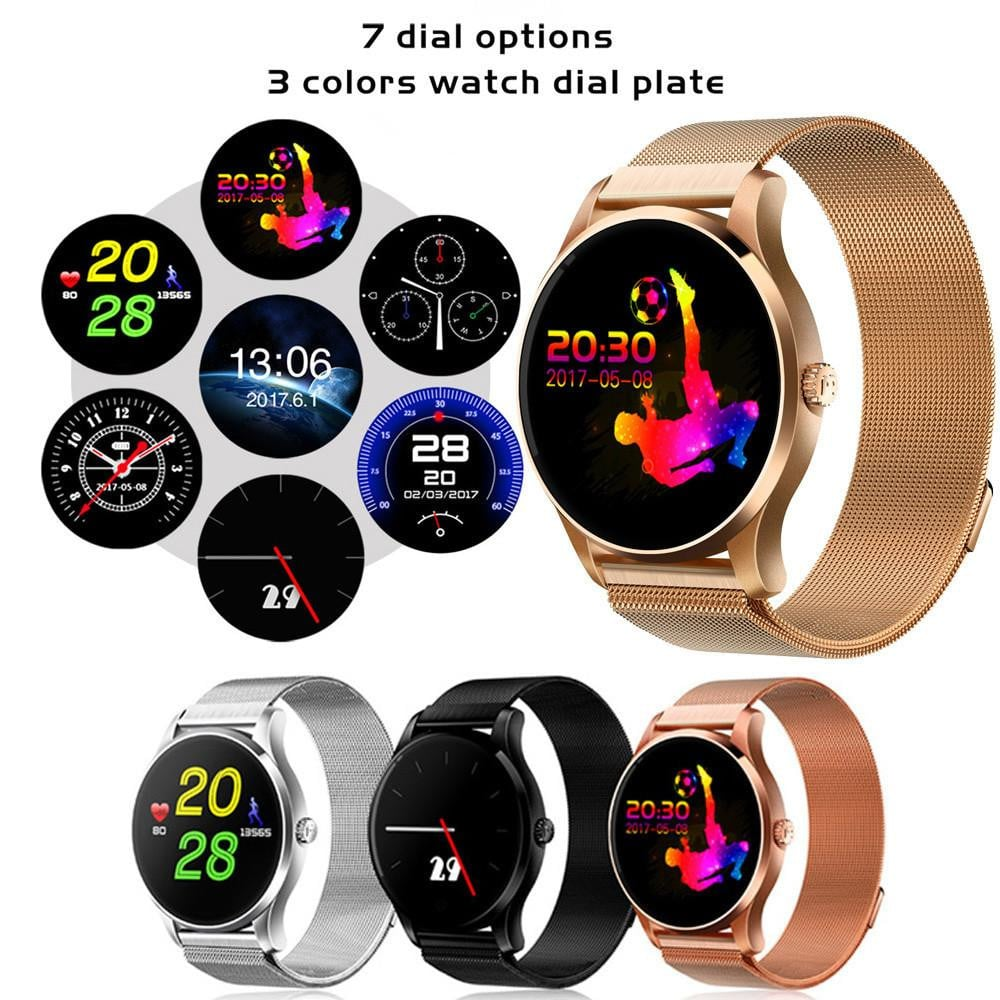 Smart Watch IOS Android Heart Rate Monitor Watch 1.22 Inch IPS Round Screen
