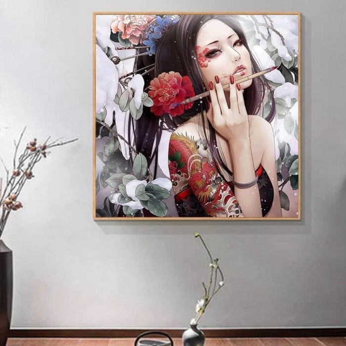 Unframed Beautiful Girl  Painting Embroidery Diamond Painting Cross Stitch Wall Painting  Home Decor