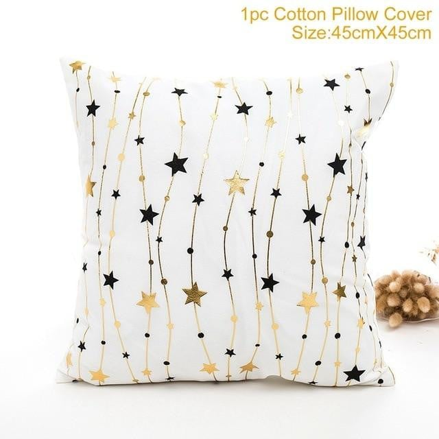 Frigg Merry Christmas Cushion Cover Gold Linen Cotton Soft Cute Cushion Covers Santa Xmas Decorative Sofa Pillow Case Pillowcase Boughtit.ca Home & Décor - Boughtit.ca